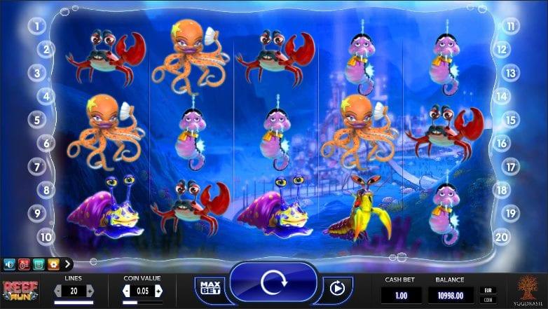Reef Run Slot Machine