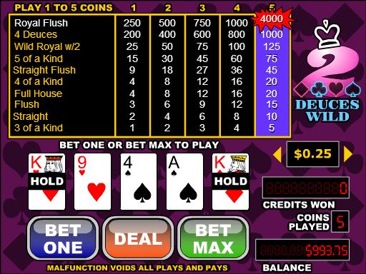 Free video poker online deuces wild