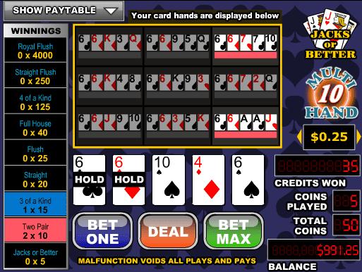 Joker Poker-3 Hand Online Slot