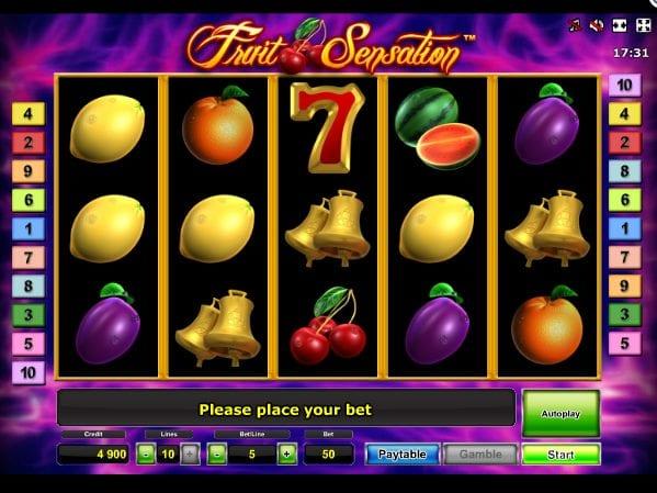 Fruit Sensation Slot Machine