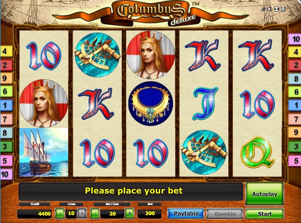 Columbus Deluxe Free Slot