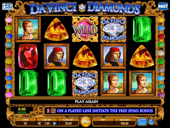 Free Online Slots Davinci Diamonds