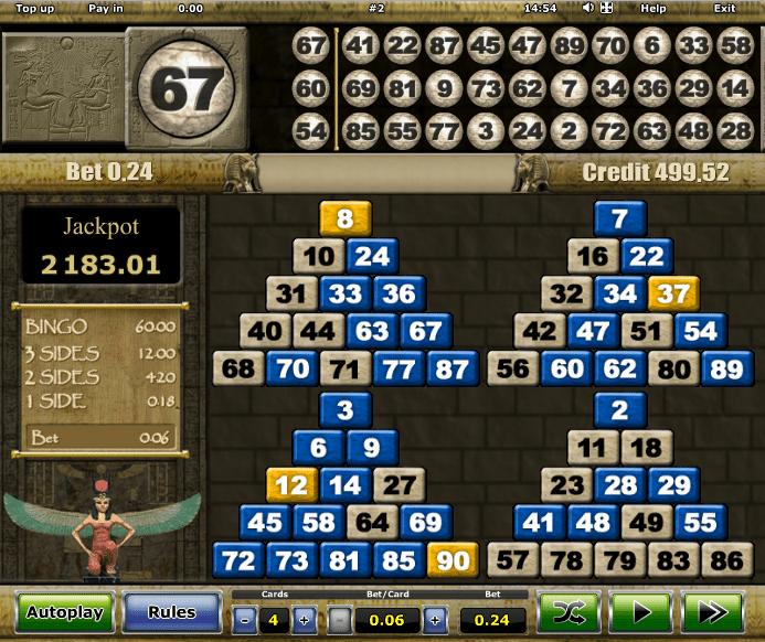 pharaohs bingo