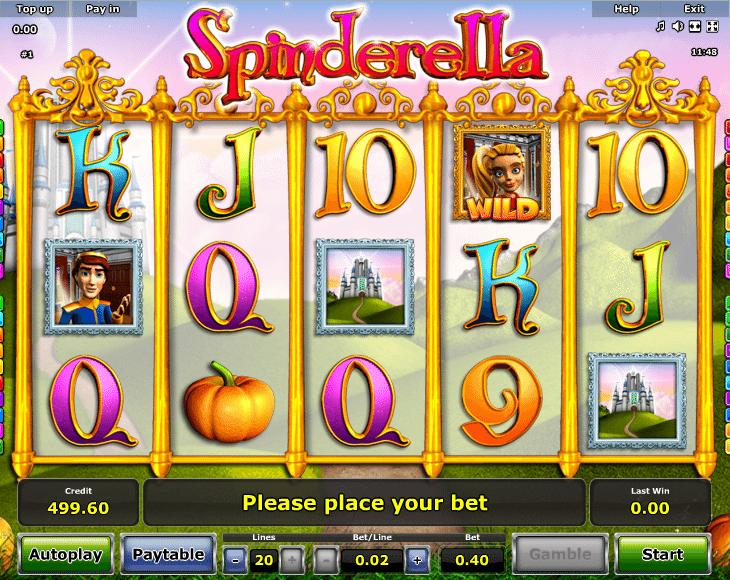 Spinderella Slot Machine