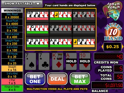 Joker Poker-10 Hand