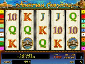 online slot venetian carnival