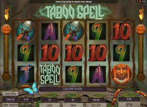 online taboo spell slot