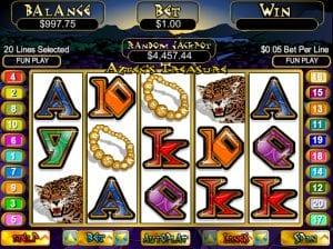Aztec treasure Online slot Machine