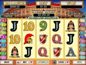 Online Caesar's Empire Slot Machine