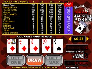 Double Jackpot Poker Videopoker Online