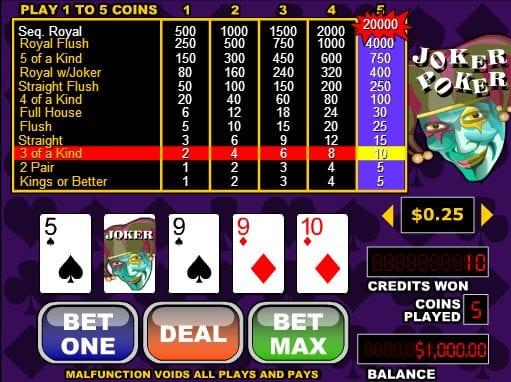 Free Slots Joker Poker