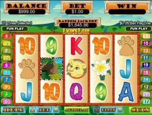 Lion´s Lair Online Slot Machine