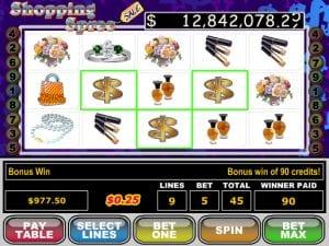 Shopping Spree Online Slot Machine