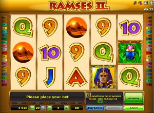 Online Slot Ramses II Deluxe Machine
