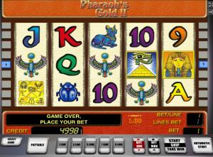 Online Slot Machines Pharaoh´s Gold II