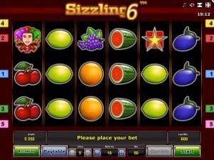 Online Slot Machine Sizzling 6