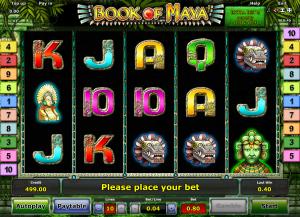 Online Slot Machine Book of Maya Novomatic