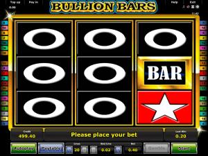 Online Bullion Bars Slot Machine from Novomatic