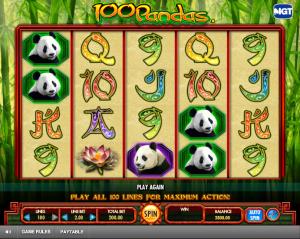 Play Slot 100 Pandas Online