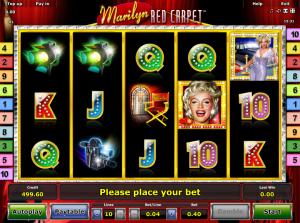 Play Slot Marilyn Red Carpet Online
