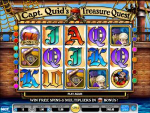 Online Slot Machine Captain Quids Treasure Quest