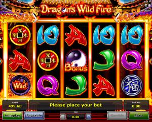Slot Machine Dragons Wild Fire Online