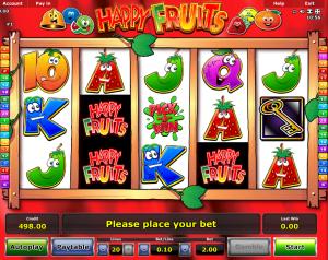 Slot Machine Happy Fruits Online