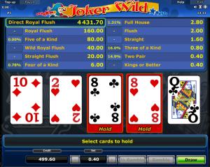 Online Videopoker Joker Wild Novomatic
