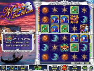 Online Slot Machine Masques Of San Marco