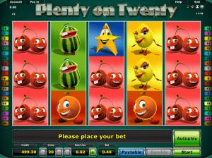 Play Slot Plenty On Twenty Online