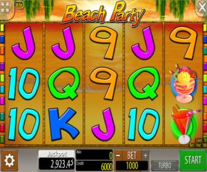 Slot Machine Beach Party Wazdan Online
