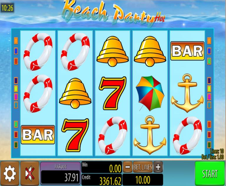 Beach Party Hot Slot Machine