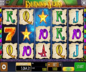 Slot Machine Burning Stars Online