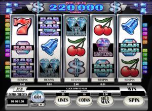 Online Slot Machine Retro Reels Diamond Glitz