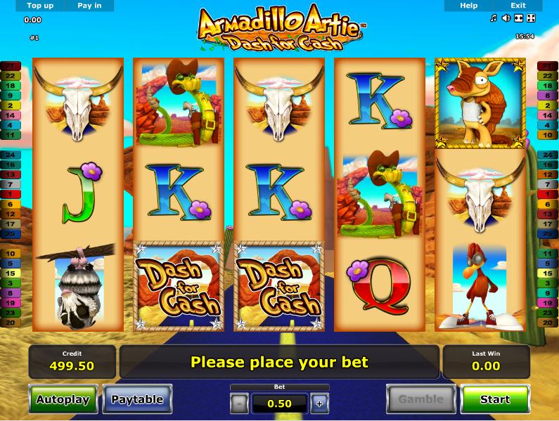 Armadillo Artie Dash For Cash